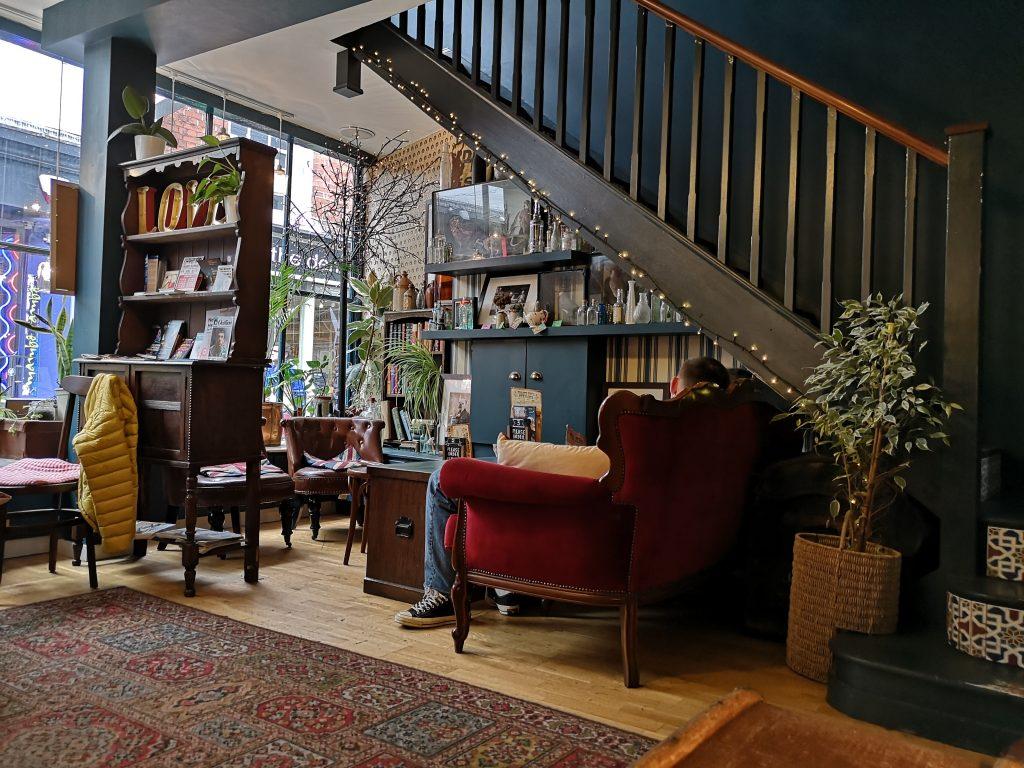 Interior of Biddy's Tea Room in Norwich, Norfolk