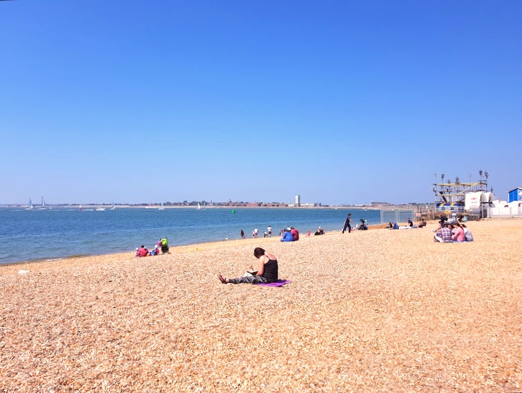 Beach area at Southsea in Portsmouth