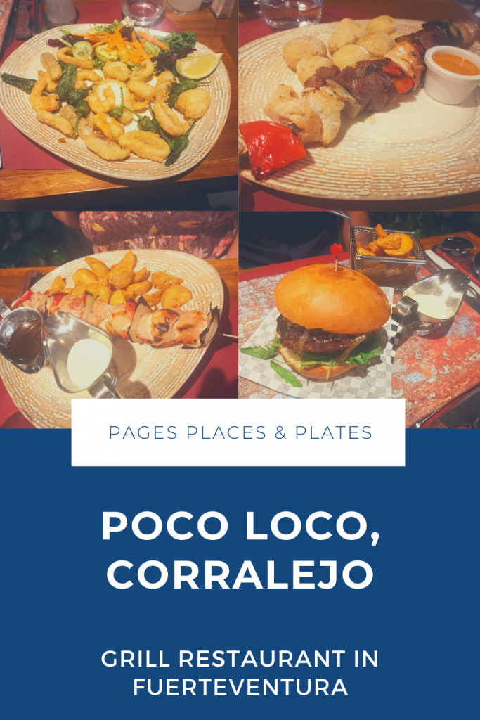 Pinterest image for review of Fuerteventura restaurant Poco Loco
