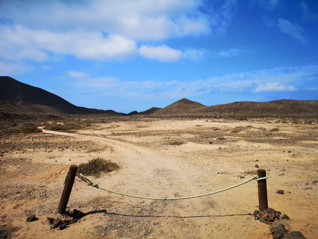 A footpath on Isla de Lobos