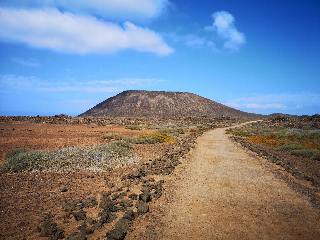 The caldera of Isla de Lobos