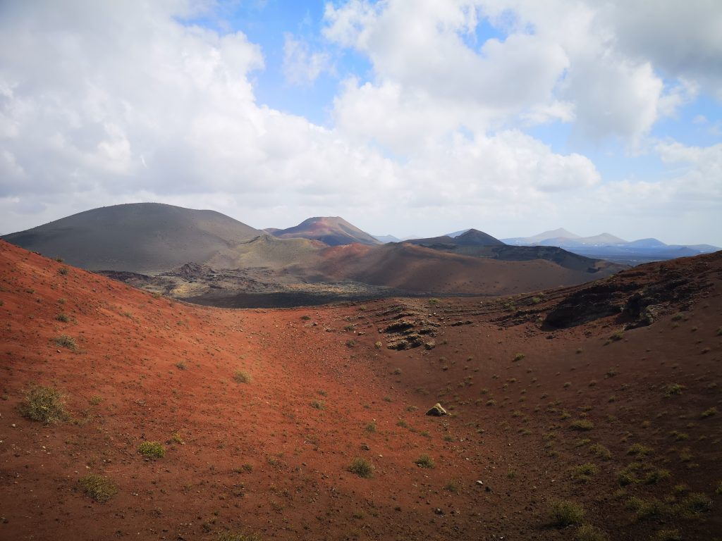 Almost alien lanscape within the volcanoes of Timanfaya National Park