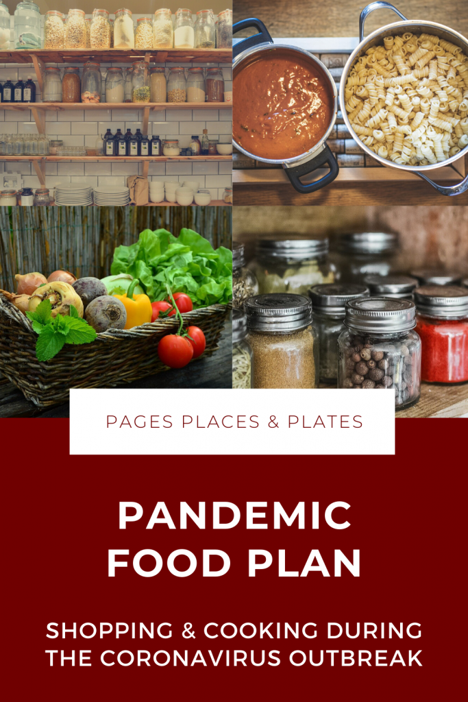 Pandemic Food Plan Pinterest image