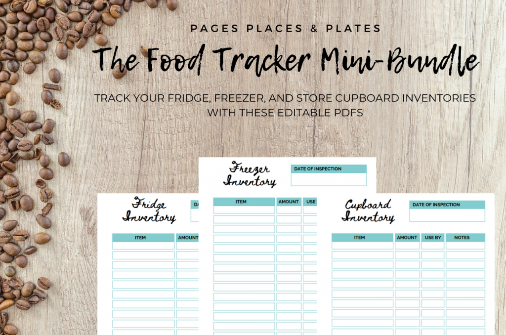 The Food Tracker Mini-Bundle cooking printables