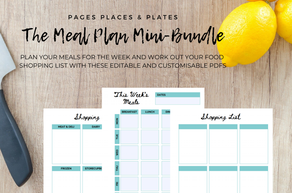 The Meal Plan Mini-Bundle cooking printables