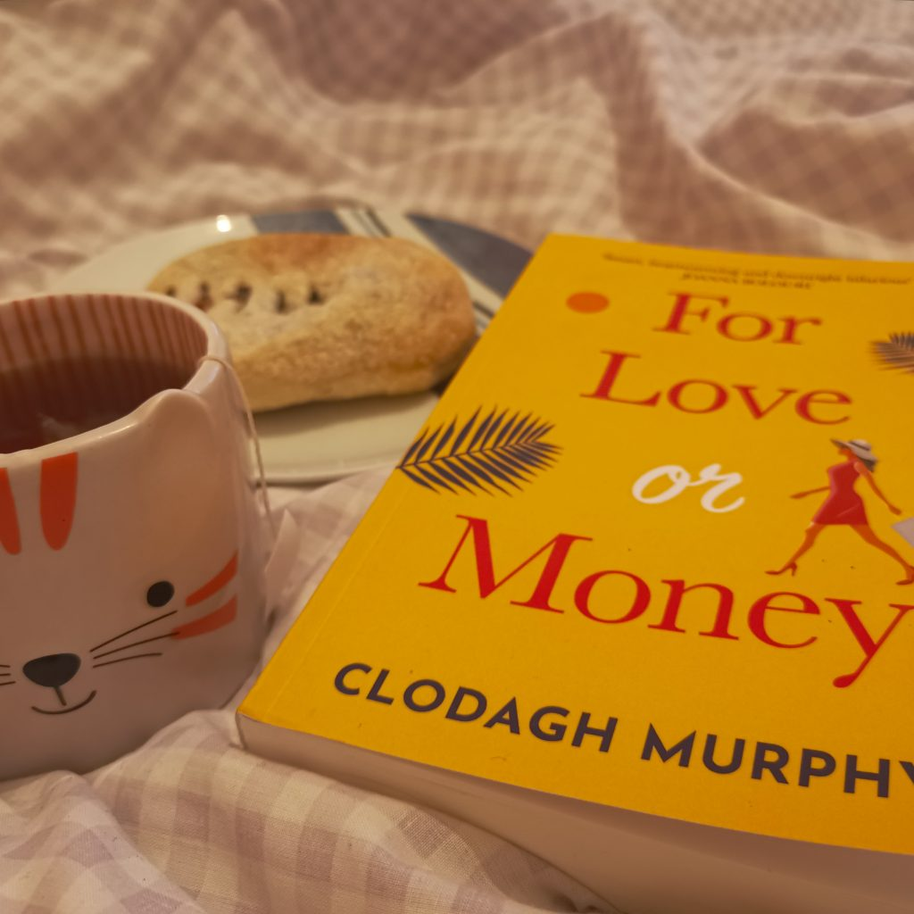 For Love Or Money book with Banbury cake and tea
