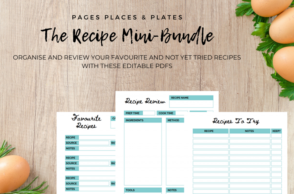 The Recipe Mini-Bundle cooking printables
