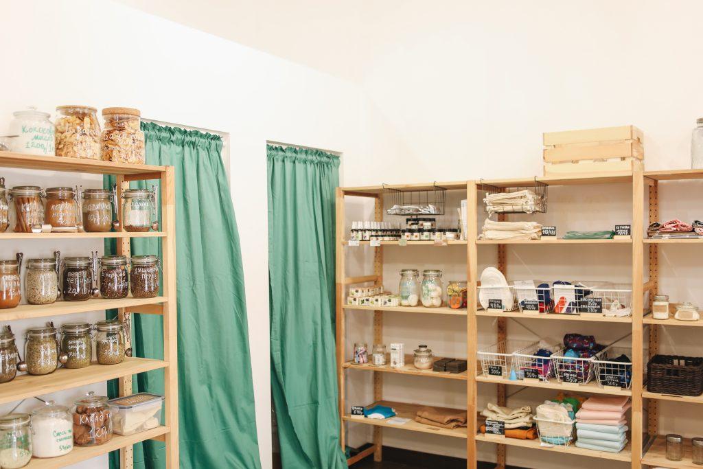 Eco-friendly shop interior