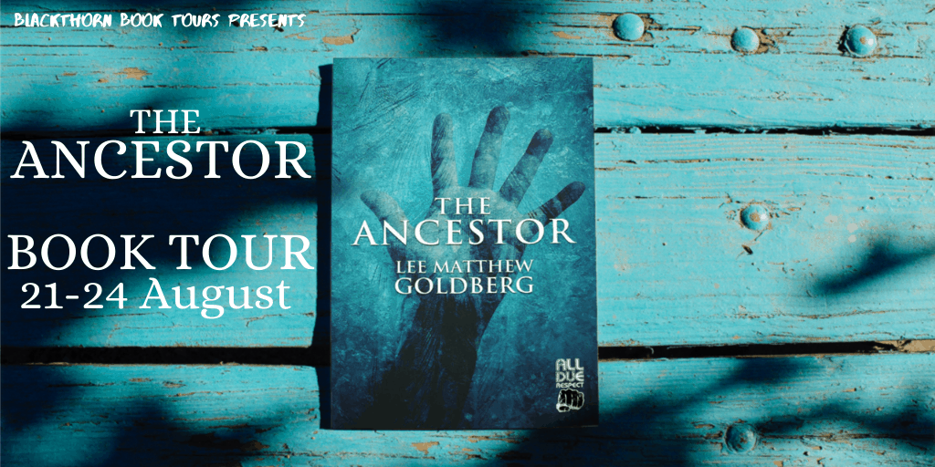 Blog tour banner for The Ancestor time slip book post
