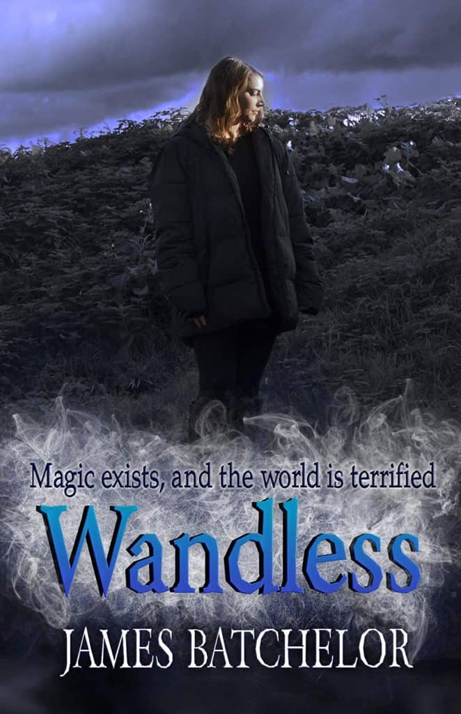 Cover image for low fantasy book Wandless by James Batchelor