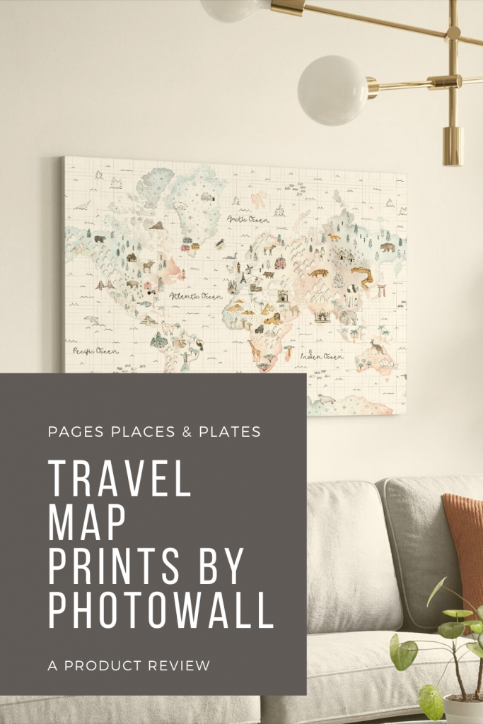 Pinterest image for world map prints by Photowall