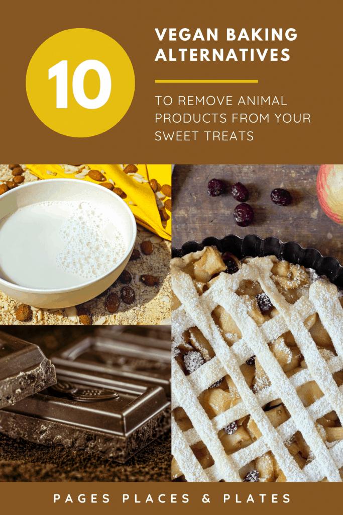 Pinterest image for vegan baking alternatives