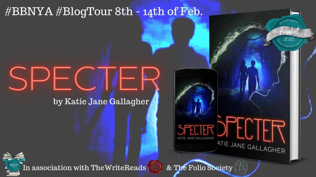 Promo image for Specter blog tour hosted by The Write Reads for BBNYA