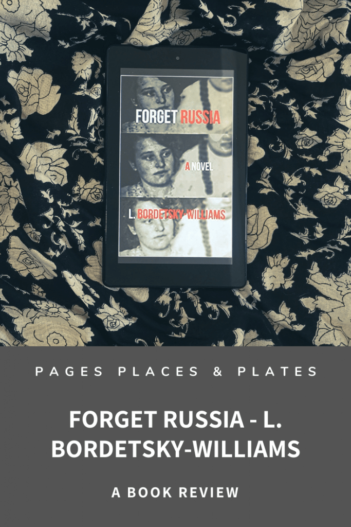 Pinterest image of historical fiction novel Forget Russia
